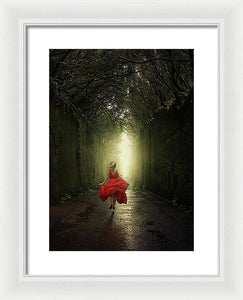 Running To The Light - Framed Print