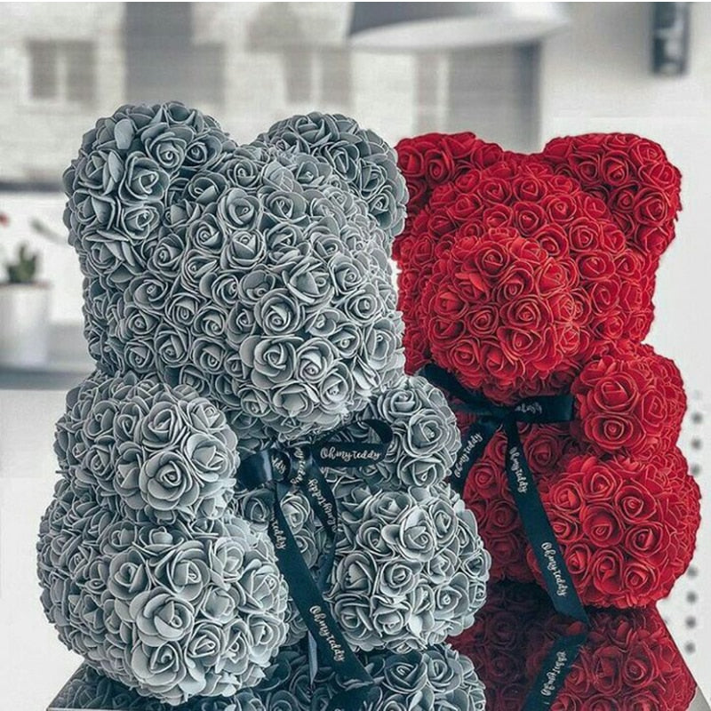 Artificial Rose Teddy Bear For Valentine's day, Birthday