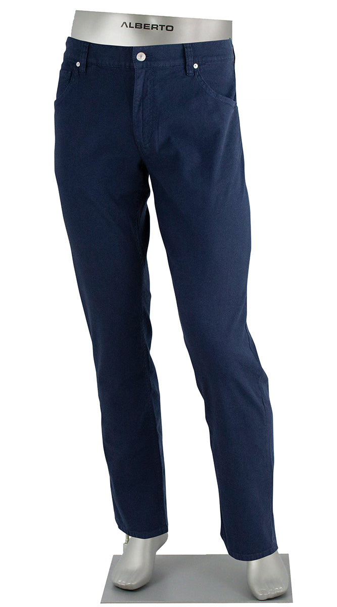 STONE LINEN/COTTON STRETCH NAVY