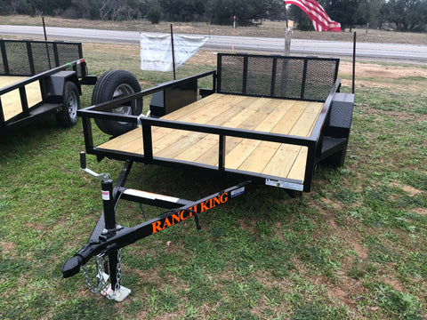 Ranch King 6x12 Single Axle Utility Trailer with bifold- 2574