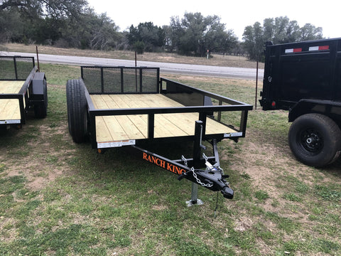 Ranch King 6 x14 Multi Purpose Tandem Axle Utility Trailer with bifold -1851