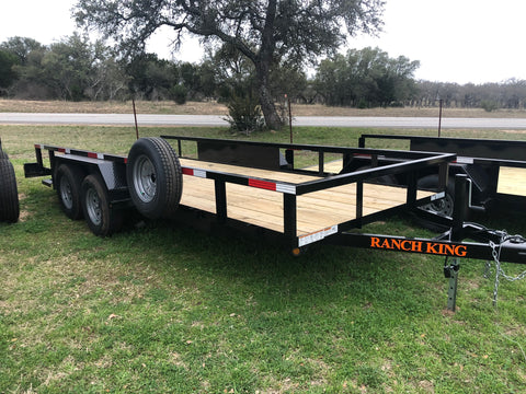 Ranch King 6'10 x 18 Tandem Axle Utility Trailer with ramps- 2079