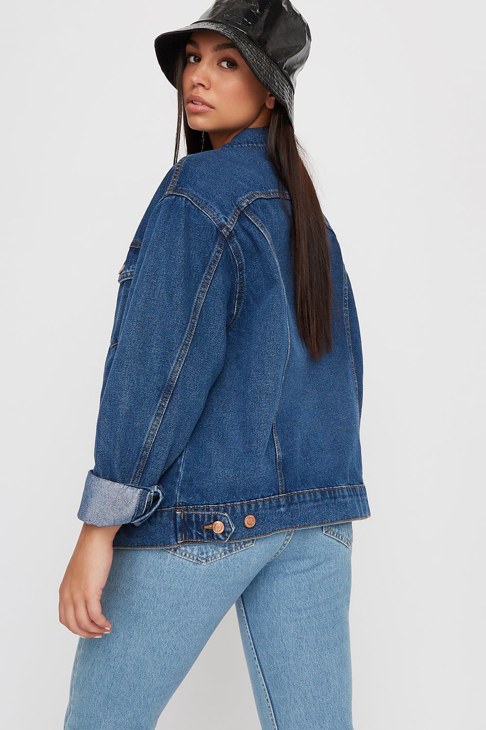 Oversized Denim Jacket Denim Blue
