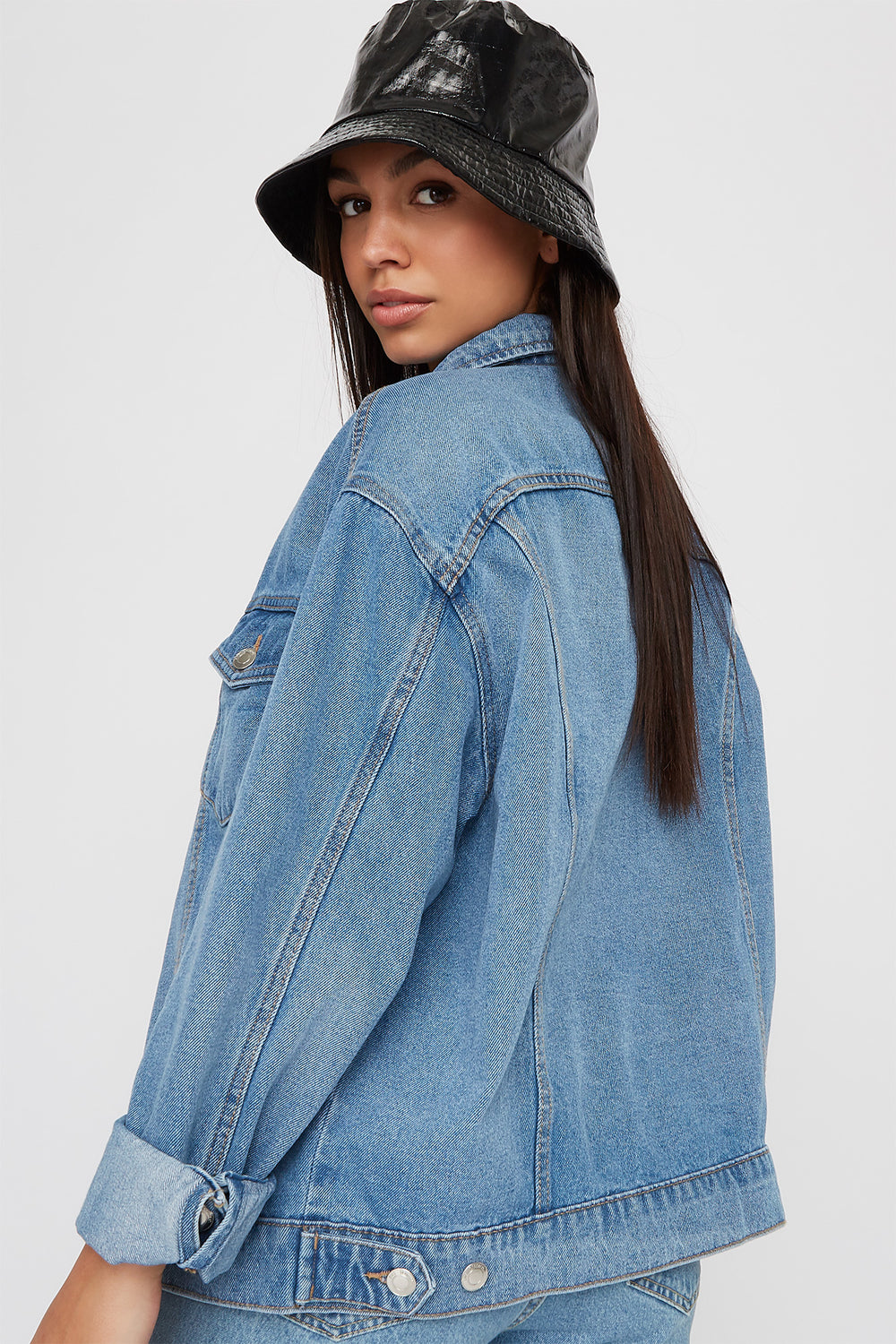 Oversized Denim Jacket Medium Blue
