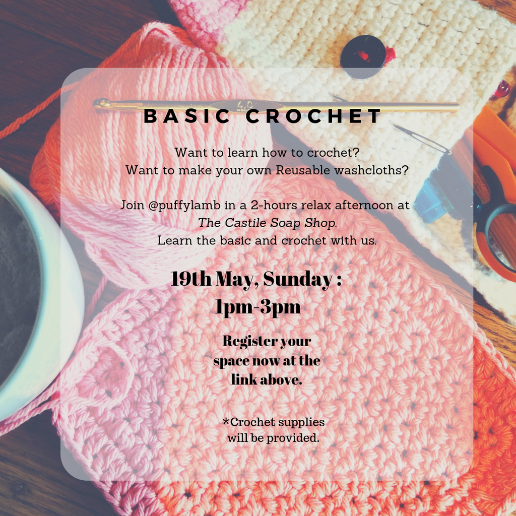 New workshop in May: Basic Crochet