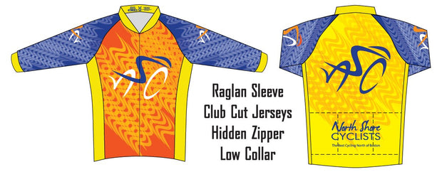 North Shore Cyclists Long Sleeve Club Jersey