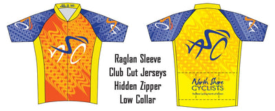 North Shore Cyclists Short Sleeve Club Jersey