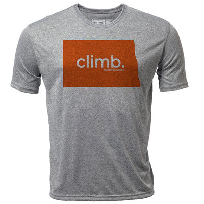 climb. North Dakota + Mens SS Hybrid T