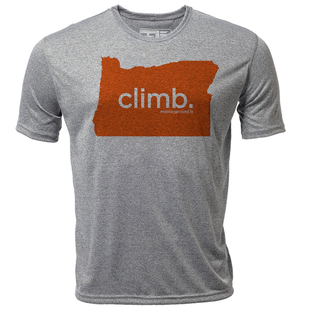 climb. Oregon + Mens SS Hybrid T