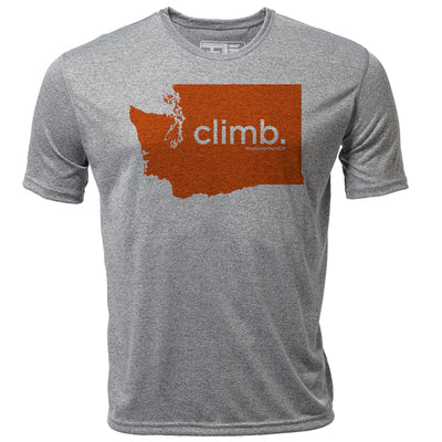 climb. Washington + Mens SS Hybrid T