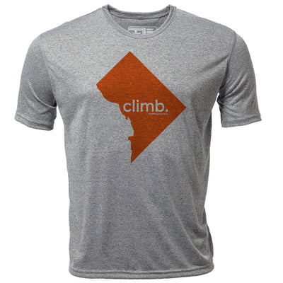 climb. Washington DC + Mens SS Hybrid T