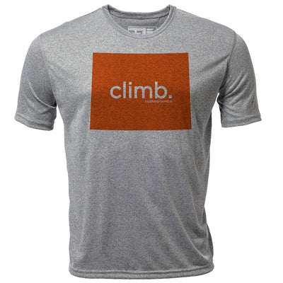 climb. Wyoming + Mens SS Hybrid T