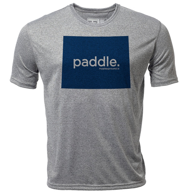 paddle. Wyoming + Mens SS Hybrid T
