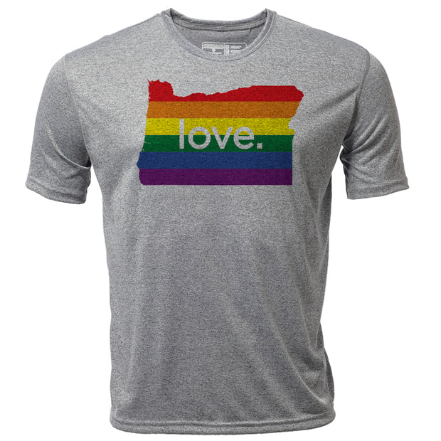 love. Oregon + Mens SS Hybrid T