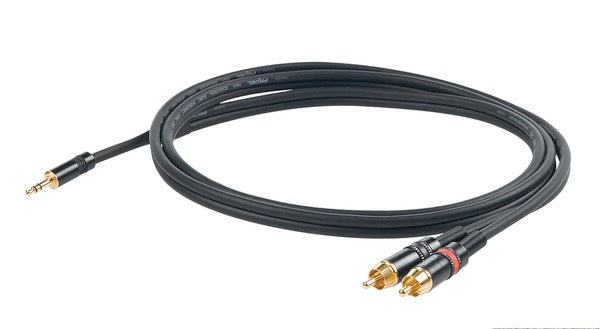 Proel Challenge Series MINI TRS - TWIN RCA SPLIT LEAD (1.5M, 3M)