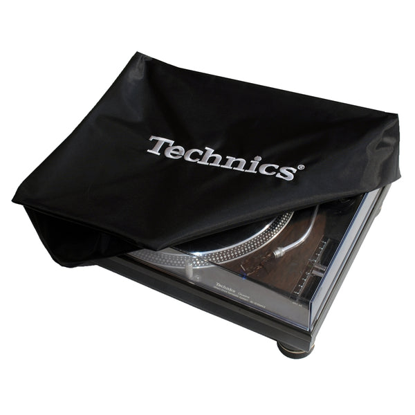 Technics DECK COVER | Black with Silver Embroidery