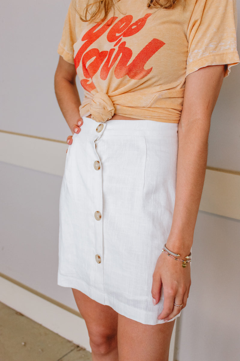 SAGE THE LABEL BUTTON DOWN SKIRT