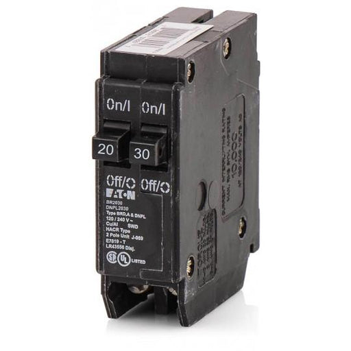 BR2030 - Cutler-Hammer Space Saver Twin Two 20/30 Amp Circuit Breaker