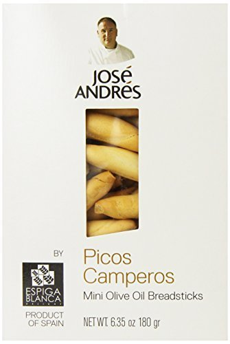 Jose Andres Foods Picos Camperos Mini Olive Oil Breadsticks, 6.35 Ounce by Jose Andres Foods