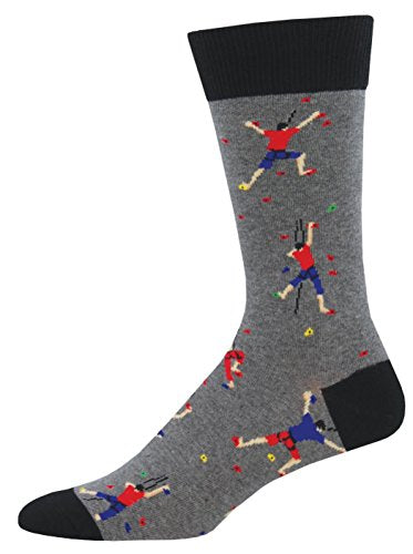 Socksmith Men's Climbing People Heather Gray One Size