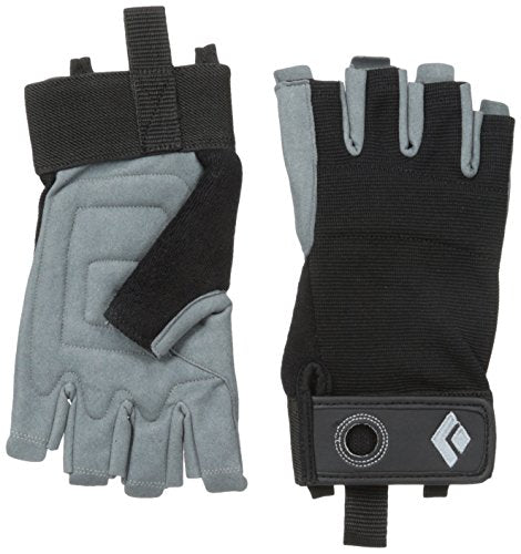 Black Diamond Crag Half-Finger Climbing Gloves, Black, Large