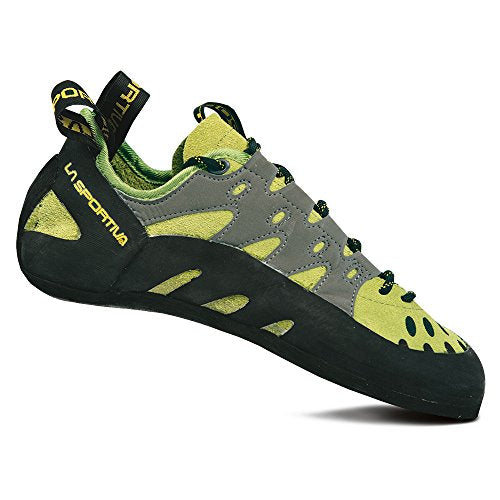 La Sportiva Men's TarantuLace Performance Rock Climbing Shoe, Kiwi/Grey, 44 M EU