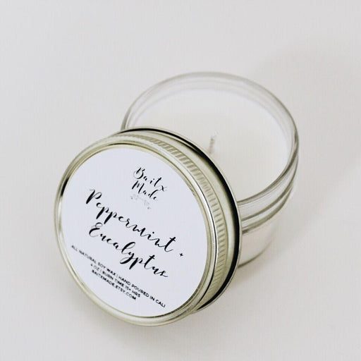 Baitx Made - Peppermint + Eucalyptus Candle, 4 oz