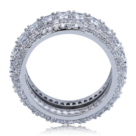Image of 10mm Iced Out 360 Silverplated Ring - ICED OUT