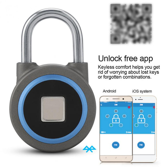 Keyless Fingerprint Smart Bluetooth Padlock for IOS/Android phones