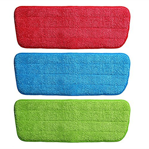 Spray Mop Refill Replacement Microfiber Refill Pad–(Pack of 3) Machine Washable Reusable High Absorb