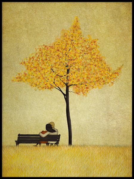Poster: Under the cherry tree, Autumn, by Majali Design & Illustration