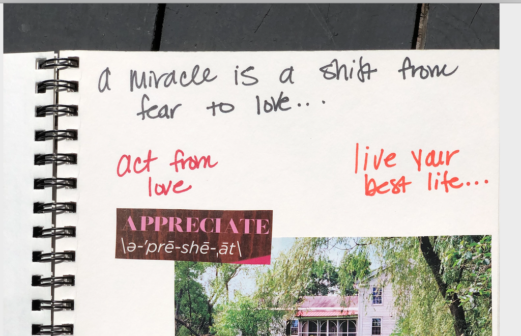 A MIRACLE IS SHIFTING FROM FEAR TO LOVE