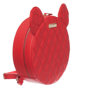 AIME RED QUILTED-Backpack-Margée
