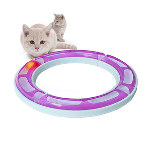 Roller circuit cat toy