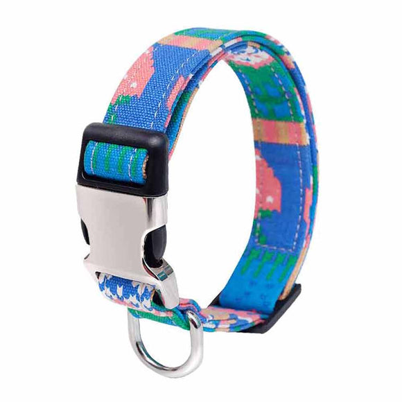 Durable personalized double layer canvas dog collar