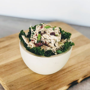 Cranberry Pecan Chicken & Kale Salad