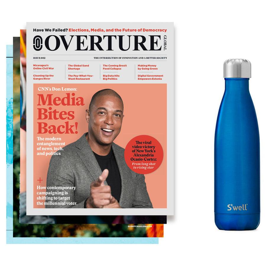 Overture Global Yearly Subscription + Swell Water Bottle