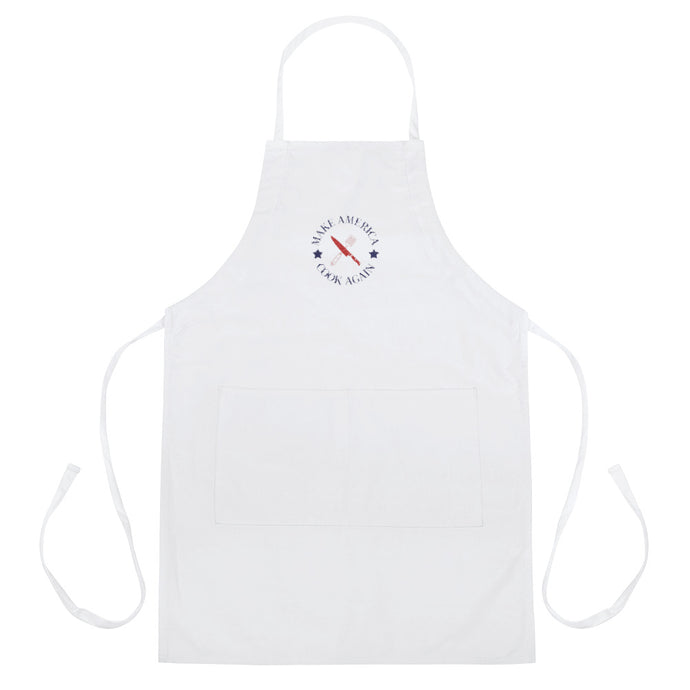 MACA EMBLEM - Embroidered Apron (White)