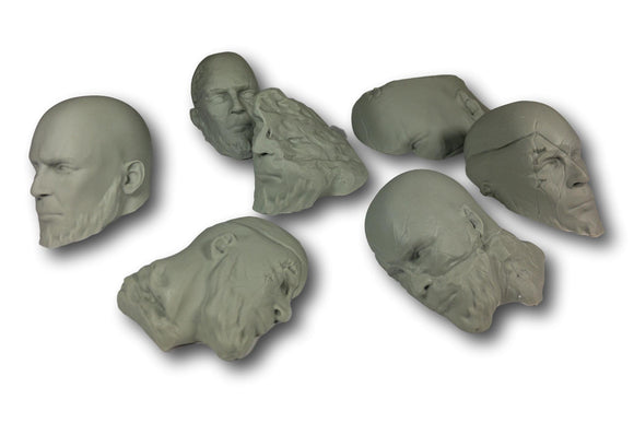 Warhead Studio Fantasy Terrain Ancient Heads - Set of 7
