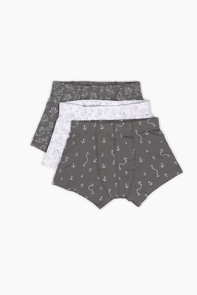 Cheeky Sharks Fun Underwear 3 Pack - Shop Organic kids clothing, sheets, bedding, pyjamas, underwear & more