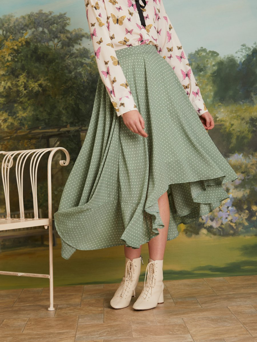 Herbage Butterfly Maxi Skirt