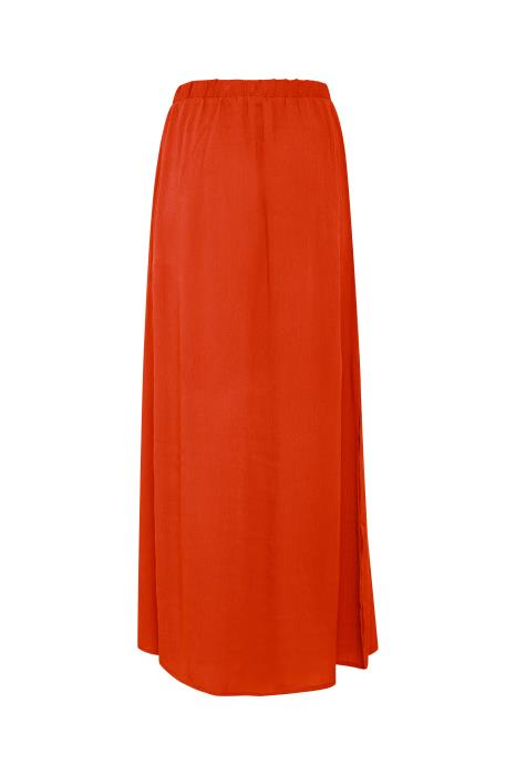 MARRAKECH co-ord maxi skirt with side splits - red