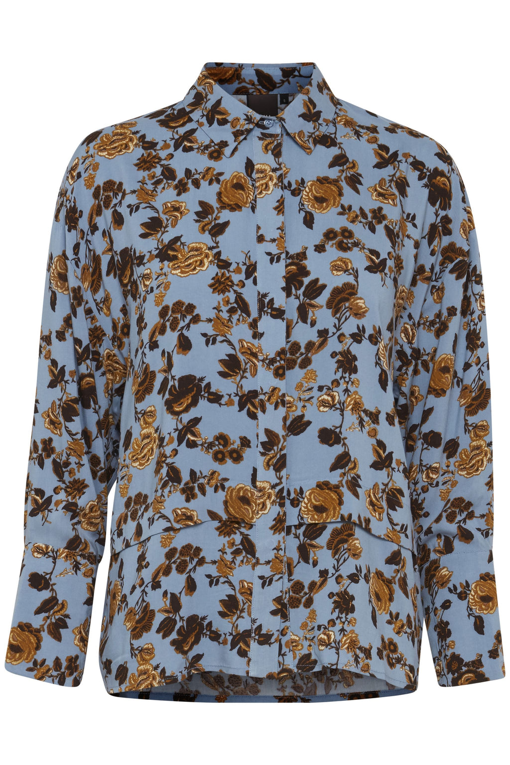 DURAVO floral shirt - blue shadow