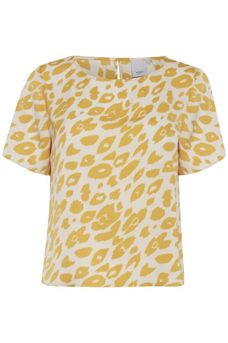 LISS crew neck animal print short sleeve top - mango mojoti