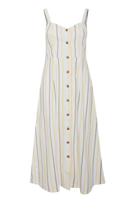 PAMMI stripped button up cami midi dress