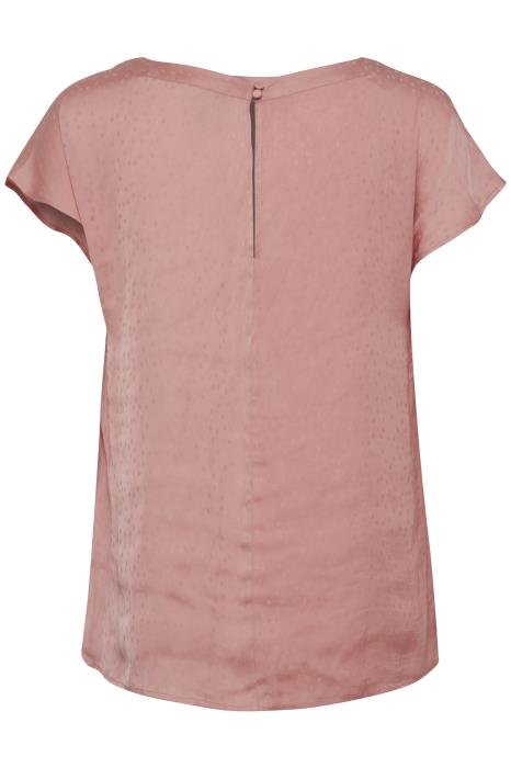 CHILLA SS crew neck cap sleeve silky top - pale pink