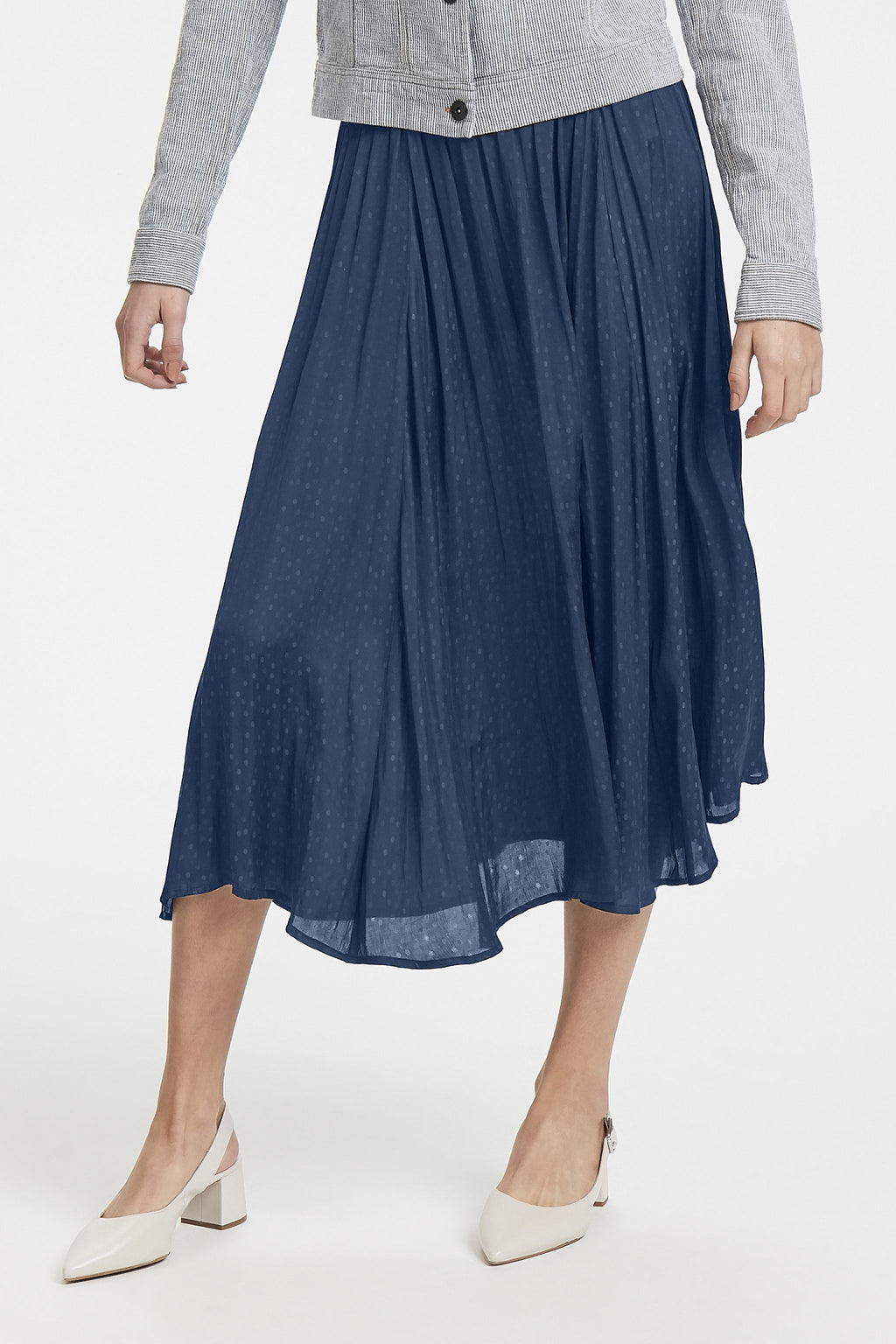 CHILLA midi skirt - total eclipse
