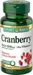Nature's Bounty Cranberry Fruit 4200mg Plus Vitamin C 120 Caps