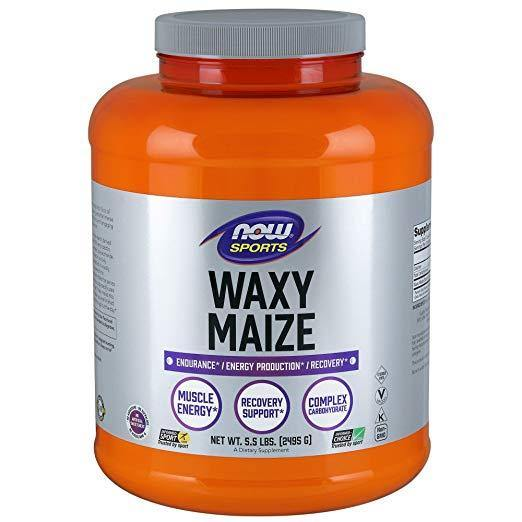 NOW Sports Waxy Maize em Pó, 5.5 lbs (2.4 Kg)