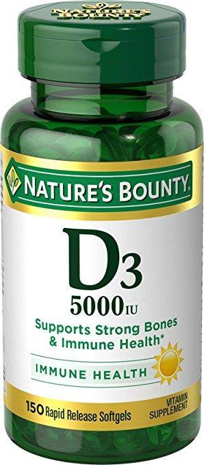 Nature's Bounty - Maximum Strength Vitamin D 5000 UI 150 Softgels
